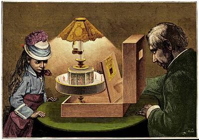 Praxinoscope Theatre Illustration. Art Print by David Parker