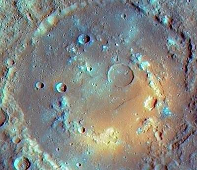 Astrogeological Photograph - Praxiteles Crater by Nasa/johns Hopkins University Applied Physics Laboratory/smithsonian Institution/carnegie Institution Of Washington
