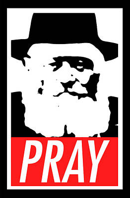 Pray Art Print by Anshie Kagan