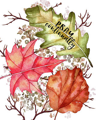 Gratitude Painting - Pray Continually by Amy Cummings