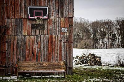 Barn Photograph - Pray For Basketball by Heather Applegate