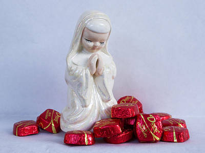 Candy Candy Doll Photograph - Pray For Chocolate by William Patrick
