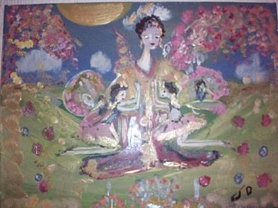 Pray For Japan Art Print by Judith Desrosiers