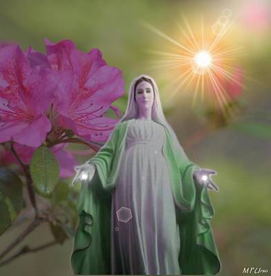 Mother Mary Digital Art - Pray For Us by Maria Urso