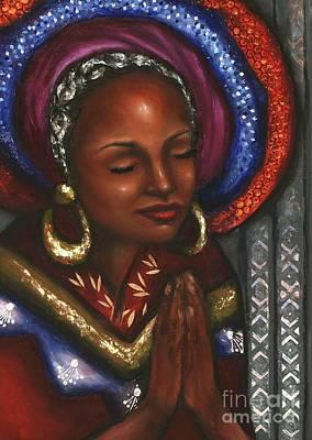 Art Print featuring the pastel Pray With Me by Alga Washington