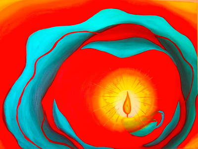 Unity Painting - Pray World Peace by Sister Rebecca Shinas