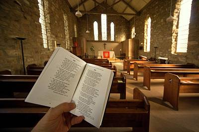 Prayer Book In Church, Rosedale, North Print by John Short