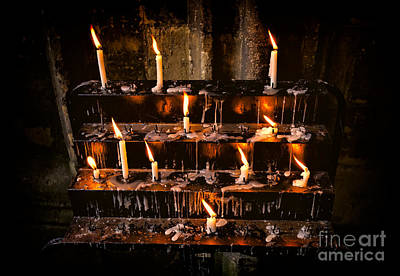 Holy Digital Art - Prayer Candles by Adrian Evans