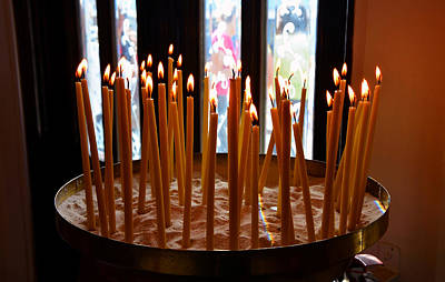 Religous Art Photograph - Prayer Candles by David Lee Thompson
