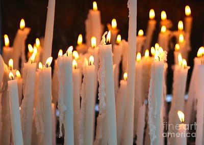 Photograph - Prayer Candles In Lourdes by Carol Groenen