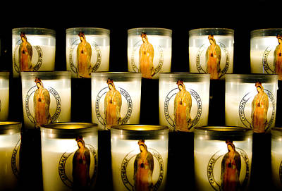 Mother Of God Photograph - Prayer Candles In Notre Dame by Nila Newsom