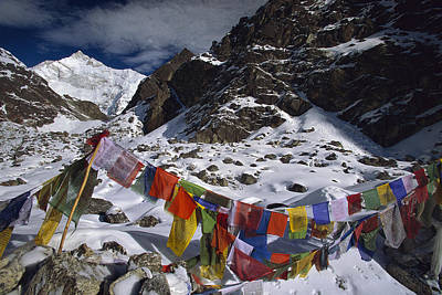 Photograph - Prayer Flags Himalaya India by Colin Monteath