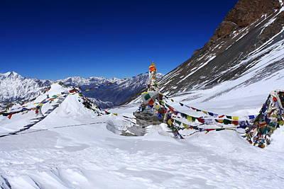 Kali Photograph - Prayer Flags - Thorung La Pass - Nepal by Aidan Moran