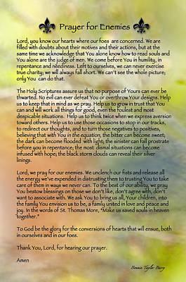 Prayer For Enemies Print by Bonnie Barry