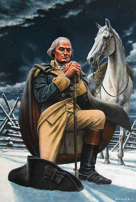 Revolutionary War Painting - Prayer For The Cause  by Dan Nance
