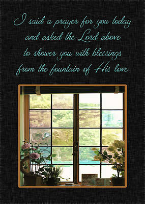 Photograph - Prayer For You Card by Carolyn Marshall