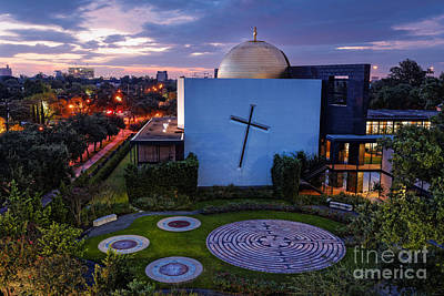 Religious Art Photograph - Prayer Garden Of The Chapel Of St. Basil University Of Saint Thomas - Montrose Houston Texas by Silvio Ligutti