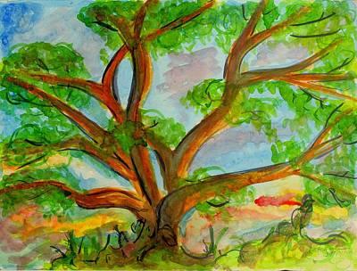 Painting - Prayer Mountain Tree by Katie Sasser