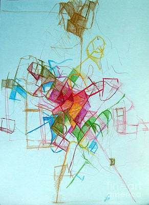 Creativity Drawing - Prayer Not To Waste A Moment 1 by David Baruch Wolk