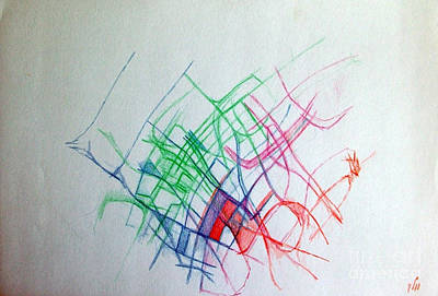 Inner Search Drawing - Prayer Not To Waste A Moment 2  by David Baruch Wolk