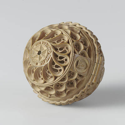 Prayer Drawing - Prayer Nut With Case, Attributed To Adam Theodrici by Quint Lox