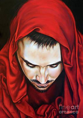Prayer Of Jeshua Art Print by Ilse Kleyn