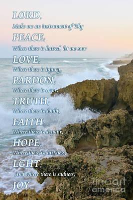 Prayer Of Saint Francis Art Print