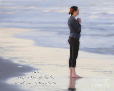 Abba Father Painting - Prayer To Abba by Constance Woods