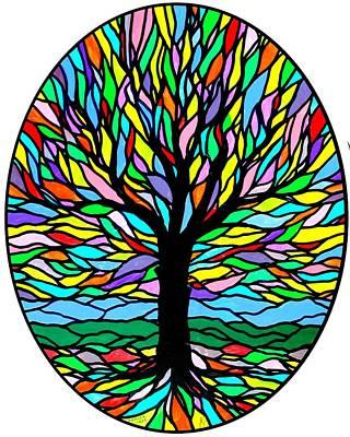 Prayer Tree Print by Jim Harris