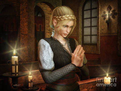 Digital Art - Prayerful by Jutta Maria Pusl
