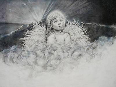 Prayers To An Angel Art Print