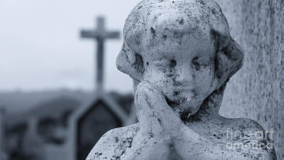 Grave Photograph - Praying Angel by Aged Pixel