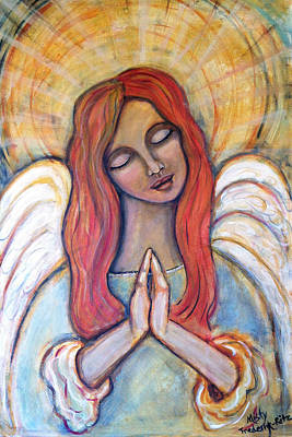Painting - Praying Angel by Misty Frederick-Ritz