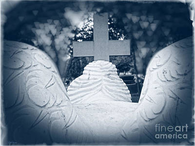 Photograph - Praying Angel Worship At The Cross by Ella Kaye Dickey