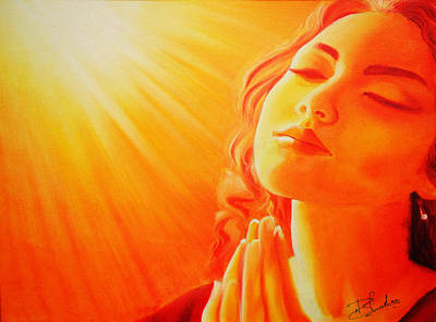 Godly Painting - Praying  by Bhushan Nayak