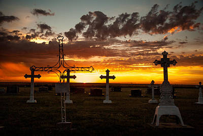 Art Print featuring the photograph Bearing Our Crosses by Shirley Heier