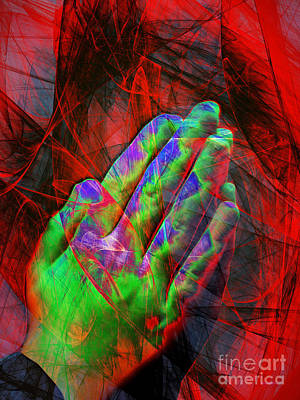 Praying Hands 20150302v2 Art Print