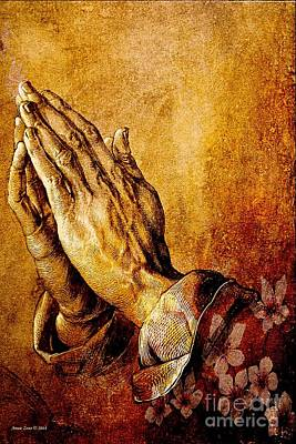 Praying Hands Art Print by Annie Zeno