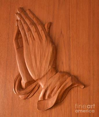 Photograph - Praying Hands  by Bob Sample