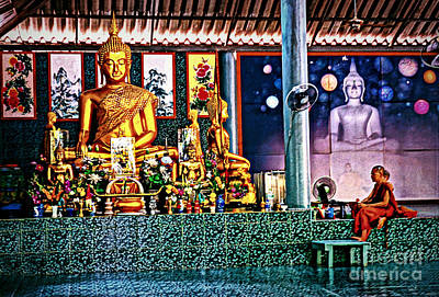 Photograph - Praying With Buddha by Ian Gledhill