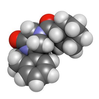 Praziquantel Anthelmintic Drug Molecule Art Print by Molekuul