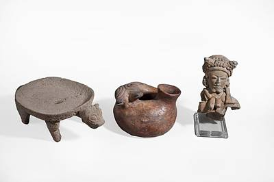 Ceramics Photograph - Pre Columbian Zoomorphic by Science Photo Library
