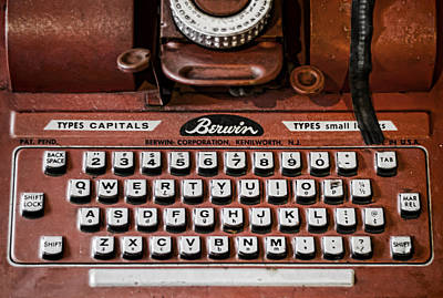 Typewriter Photograph - Pre Computer by Heather Applegate