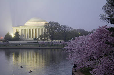 Photograph - Pre-dawn At The Jefferson Memorial 2 by Leah Palmer