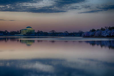 Photograph - Pre-dawn At The Jefferson Memorial  by Leah Palmer