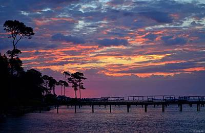 Photograph - Pre-dawn Colors On Santa Rosa Sound by Jeff at JSJ Photography