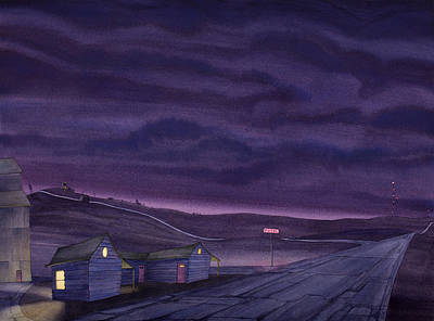 Grain Elevator Painting - Pre-dawn On The Hi-line Vi by Scott Kirby