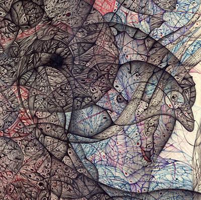 Metallic Sheets Digital Art - Pre Digitized Detail One by Jack Dillhunt