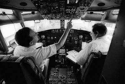 Cockpit Photograph - Pre-flight Check by Jim West