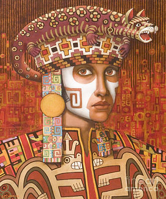 Pre-inca 1 Print by Jane Whiting Chrzanoska